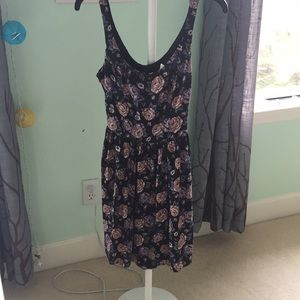 A & F floral backless dress